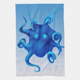 Blauer Kraken-Pop Küchentuch