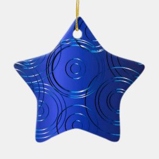 Blauer Kreis-Hintergrund Keramik Stern-Ornament
