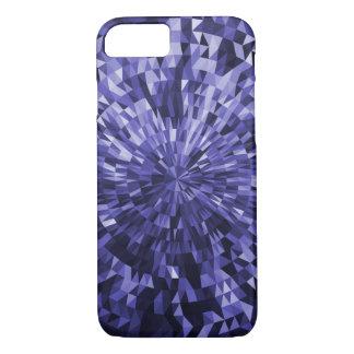 Blauer Kreis-und Dreieck-geometrischer Entwurf iPhone 8/7 Hülle