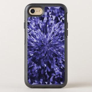 Blauer Kreis-und Dreieck-geometrischer Entwurf OtterBox Symmetry iPhone 8/7 Hülle