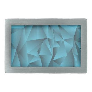 blauer Kristallhintergrund Rechteckige Gürtelschnalle
