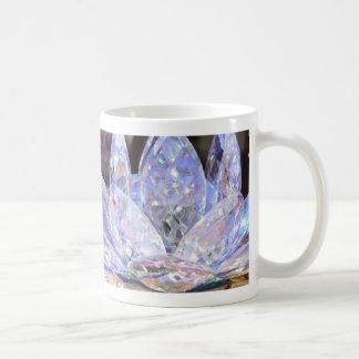 blauer Kristalllotos Kaffeetasse