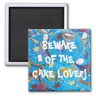 """Blauer Kuchen""""Kuchen-Liebhaber"""" Kühlschrankmagnet"""