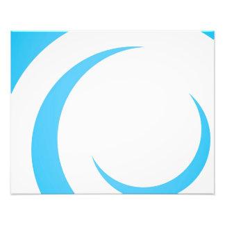 Blauer Kurven-Entwurf Kunst Fotos