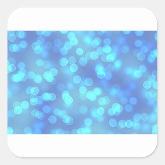 Blauer Lagune-Hintergrund Quadratischer Aufkleber
