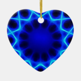 Blauer Laser #2 Keramik Ornament