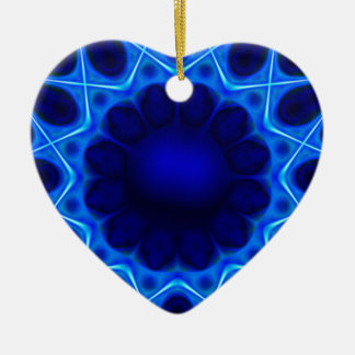 blauer Laser #3 Keramik Ornament