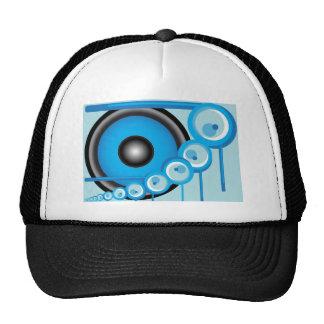 Blauer Lautsprecher Truckermütze