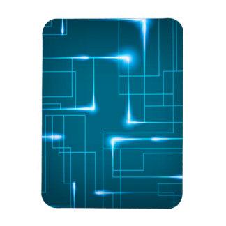 Blauer Leiterplatteentwurf Magnet