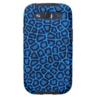 Blauer Leopard-Druck Samsung Galaxy S3 Schutzhülle