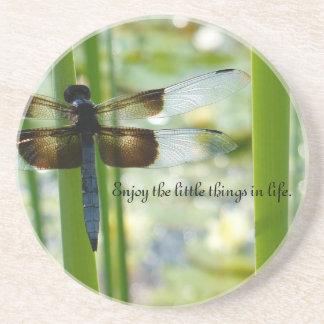 Blauer Libellen-Untersetzer