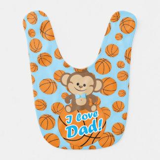 Blauer Liebe-Vati-Basketball-Schellfisch des Babylätzchen