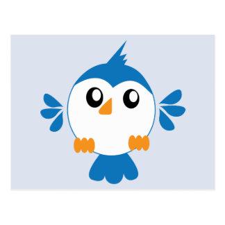 Blauer Lil Vogel Postkarte