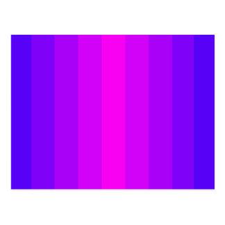 Blauer lila glücklicher Entwurfs-Spaß-hübsches Postkarte