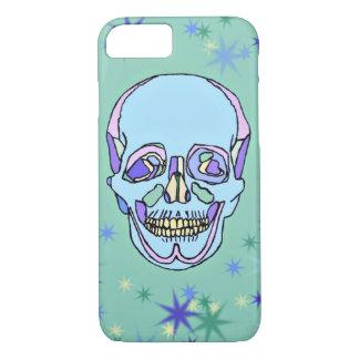 Blauer, lila, grüner Pastellschädel iPhone 7 iPhone 8/7 Hülle