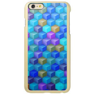 Blauer lila Kubismus-Würfel geometrisch