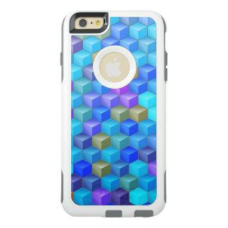 Blauer lila Kubismus-Würfel geometrisch OtterBox iPhone 6/6s Plus Hülle