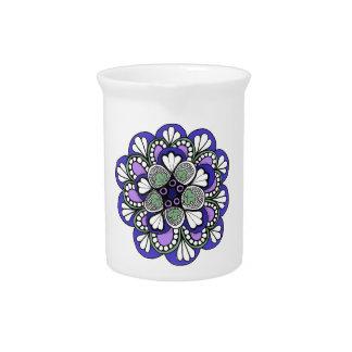 Blauer lila Mandala-Sahnekrug Krug