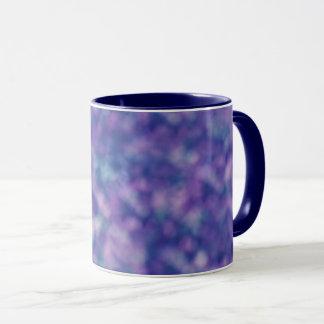 Blauer lila rosa einzigartiger cooler Chic Tasse