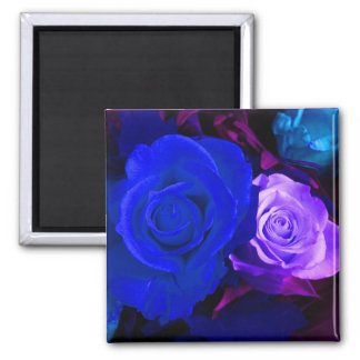 Blauer lila Rosen-Magnet - kundengerecht Kühlschrankmagnete