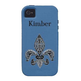 Blauer Lilien-Telefon-Kasten iPhone 4 Hüllen