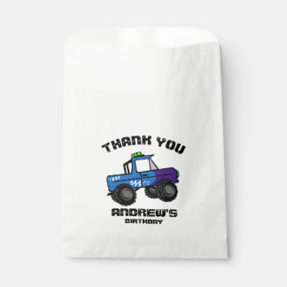 Blauer LKW-Geburtstags-Monster-LKW Geschenktütchen
