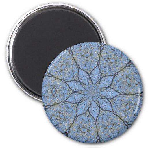Blauer Lotos-Blumen-Entwurf Kühlschrankmagnet