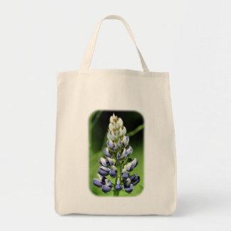 Blauer Lupine-Blumennatur-Taschen-Tasche Tragetasche