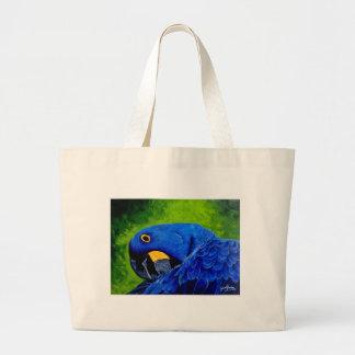 Blauer Macaw Jumbo Stoffbeutel