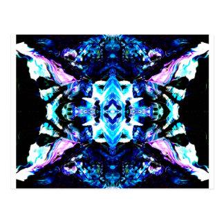Blauer magischer lila blauer Türkis-hübscher Postkarte