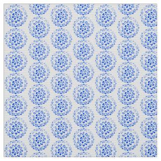 Blauer Mandalas-runder Stoff