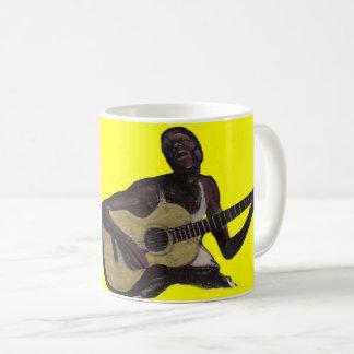 blauer Mann, der die Blues singt Kaffeetasse