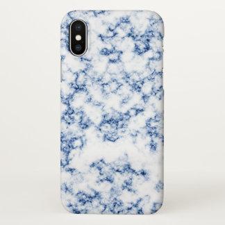 Blauer Marmor iPhone X Hülle