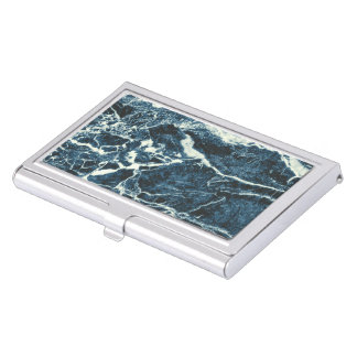 Blauer Marmor Visitenkarten-Behälter