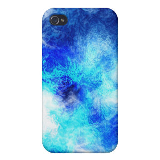 Blauer MarmorSpeck-Kasten iPhone 4 Hülle