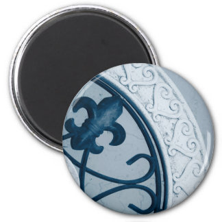 Blauer Medaillonmagnet Runder Magnet 5,7 Cm