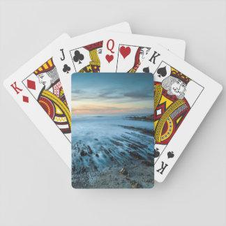 Blauer Meerblick am Sonnenuntergang, Kalifornien Spielkarten