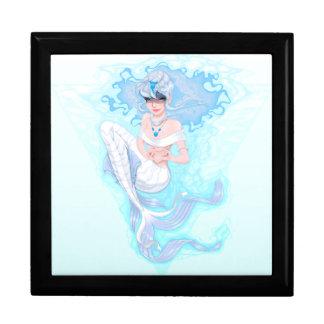 Blauer Meerjungfrau-Andenken-Kasten Erinnerungskiste