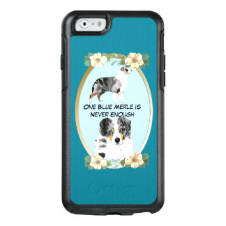 Blauer Merle australischer Schäfer, aquamarines OtterBox iPhone 6/6s Hülle