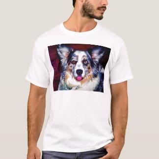 Blauer Merle Hund T-Shirt