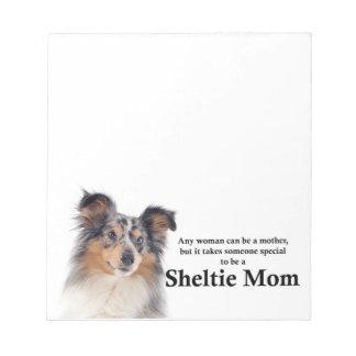 Blauer Merle Sheltie Mamma-Notizblock Notizblock