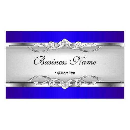 Blauer Metallchrom-Blick-elegantes weißes Visitenkarten Vorlage