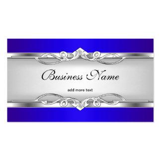 Blauer Metallchrom-Blick-elegantes weißes Visitenkarten