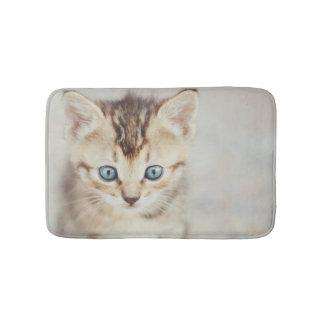 Blauer mit Augen Kitty Badematte