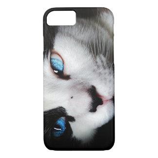 Blauer mit Augen Kitty Iphone 7 Kasten iPhone 8/7 Hülle