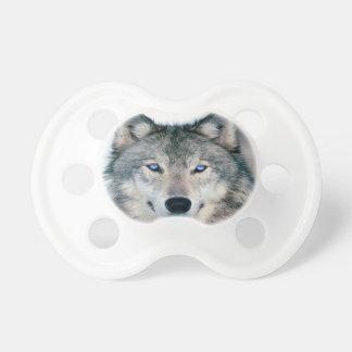 Blauer mit Augen Wolf Schnuller
