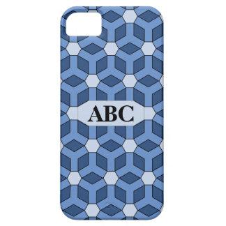 Blauer mit Ziegeln gedeckter HexeCaseMate iPhone 5 Hüllen