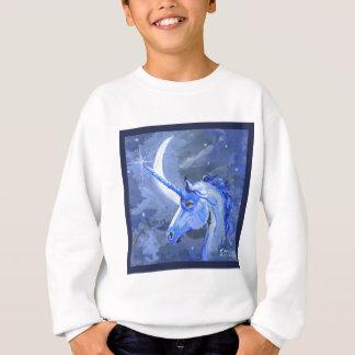 Blauer Mond-Einhorn-Pferd, Pony, Pegasus, Einhorn Sweatshirt