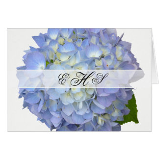 Blauer Mond-Hochzeits-Monogramm danken Ihnen Karte