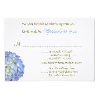 Blauer Mond-Menü-Auswahl-Hochzeits-Antwort-Karte 8,9 X 12,7 Cm Einladungskarte